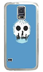 S Skull PC Transparent Hard Case Cover Skin For Samsung Galaxy S5 I9600
