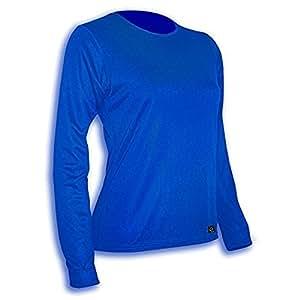 Polarmax Double Base Layer Crew Shirt, Polar Blue, Large