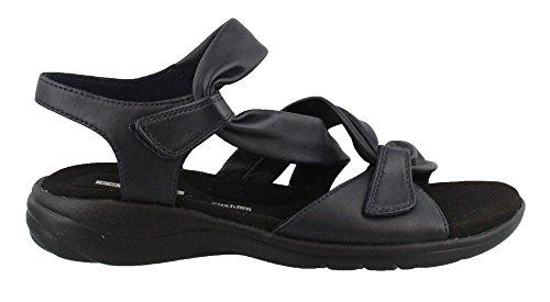 CLARKS Women's Saylie Moon Sandal Navy Leather 8.5 Wide ()