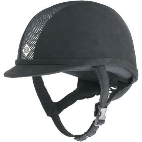 Charles Owen Ayr8 All Black With Black Harness (7 Rounder)