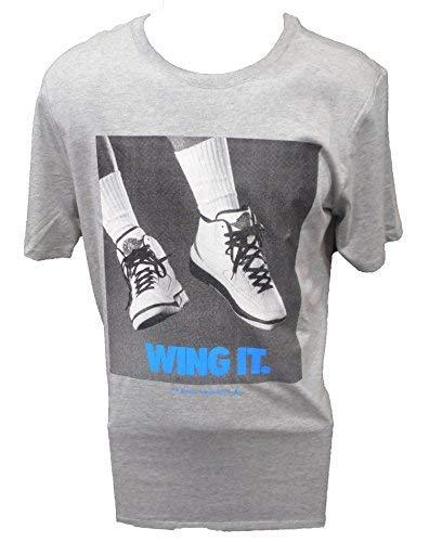 MEN'S AIR JORDAN RETRO 2 WING IT TEE-MEDIUM/GREY (Air Jordan Shirt Wings)
