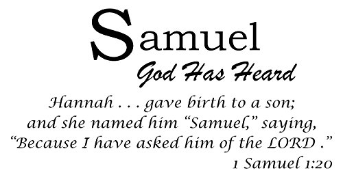 Baby Names Wall Decals Displaying The Meaning of Names Vinyl Decal - Learn The Samuel Name Meanings of Baby Girl Names or Boys. Get This What Does My Name Mean Decal in - Black (Name For Christian Baby Boy With Meaning)