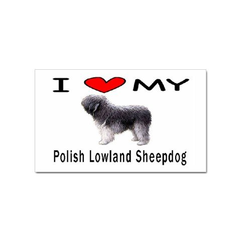 I Love My Polish Lowland Sheepdog Rectangular Magnet