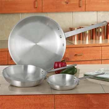 Chef's Secret 3 Piece Aluminum Fry Pan Set