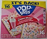 Pop Tarts Toaster Pastries Frosted Strawberry Milkshake 16 Count ( ONE BOX )