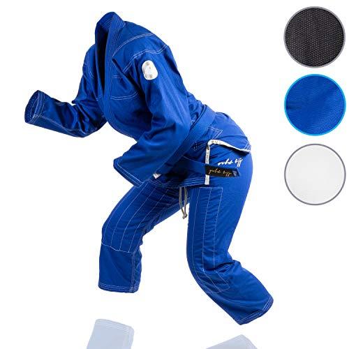 Gold BJJ Jiu Jitsu Gi - Ultra Light Women's Aeroweave - IBJJF Competition Approved Lightweight Uniform for Women (Blue, F3)