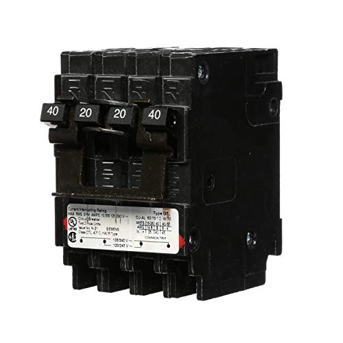 (Siemens Q24020CT2 One 20-Amp One 40-Amp Double Pole Circuit Breaker )