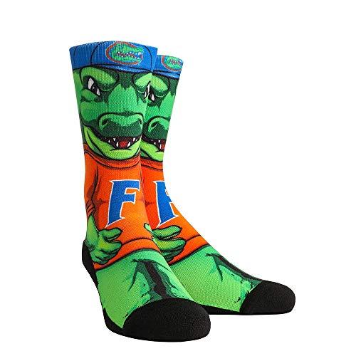 NCAA Super Premium College Fan Socks (L/XL, Florida Gators - Mascot Albert)