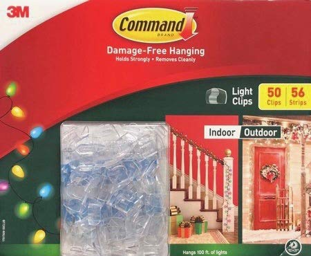 NEW Command Mega Pack Outdoor Light Clips 17017CLRAW50ES 50