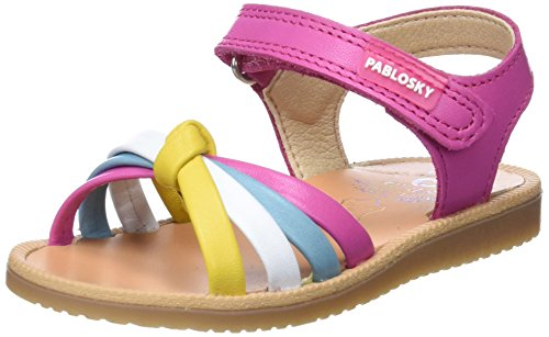 Pablosky 029970, Sandalias con Punta Abierta Para Niñas Varios Colores (Varios Colores 029970)