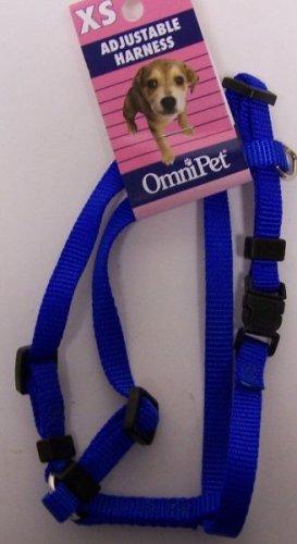 bluee X-Small bluee X-Small OmniPet 17XS-BL Kwik Klip Adjustable Nylon Pet Harness, bluee, X-Small