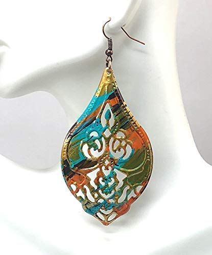 Hand Painted Long Dangle Earrings for Women Mother's Day Gift ()