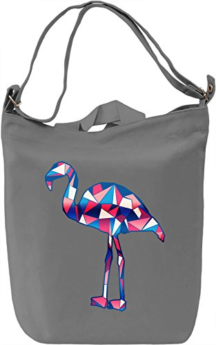 Geometric Flamingo Borsa Giornaliera Canvas Canvas Day Bag| 100% Premium Cotton Canvas| DTG Printing|
