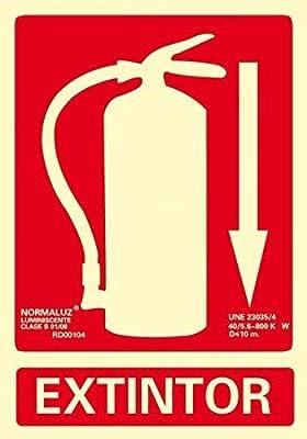 Normaluz RD00101- Señal Extintor, Extinción Homologada de Alta Calidad, 21x 30 cm, Clase B PVC 0.7mm