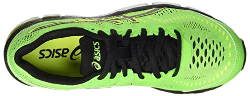 Asics Gel-Kayano 23 Gs, Zapatos Deportivos Unisex Niños Multicolor (Green Gecko/Black/Safety Yellow)