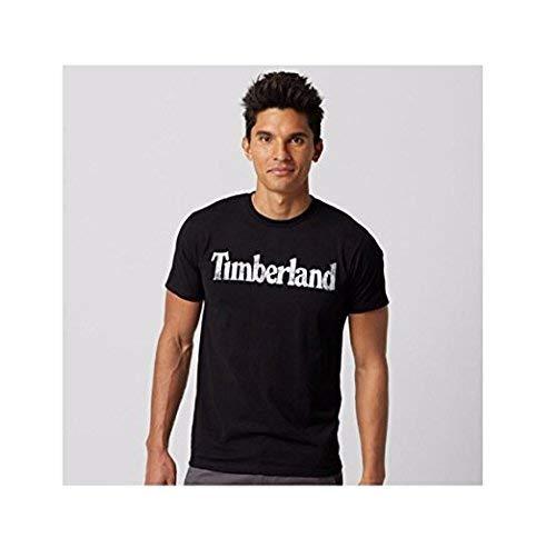 Timberland Men's Short Sleeve Faded Linear Logo Cotton T-Shirt (Small)