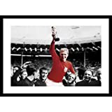 Framed England 1966 World Cup Final Spot Colour Photo Memorabilia