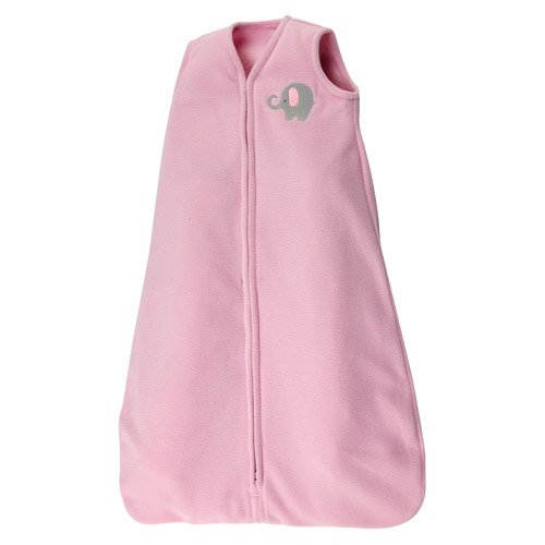 Little Bedding by Nojo Elephant Time Wearable Blanket, Pink (size Sm/med)