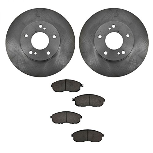 Infiniti I30 Rotor (Front Ceramic Brake Pad & 2 Rotors Kit For Nissan Maxima Infiniti I30)