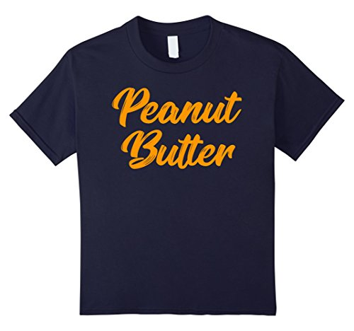 Funny Duo Costumes For Girls (Kids Peanut Butter And Jelly T-Shirts Couples Twins Costume 12 Navy)