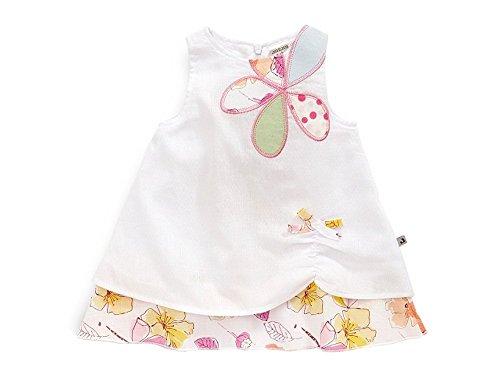 Sommerkleid Cremeweiß Rosa Punkte JACKY 391587