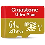 Gigastone 64GB MicroSD Card A1 V30 UHS-I U3 Class 10 SDXC Memory Card with SD Adapter High Speed 4K Ultra HD Video Android Camera Canon Dashcam DJI Drone GoPro Nikon Nintendo Samsung Tablet