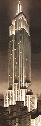Empire State Building by P. Moss Art Print, 13 x 39 inches