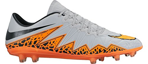 Nike HYPERVENOM PHINISH II FG Hommes Chaussures de football - WOLF GRIS/TOTAL ORANGE, 7