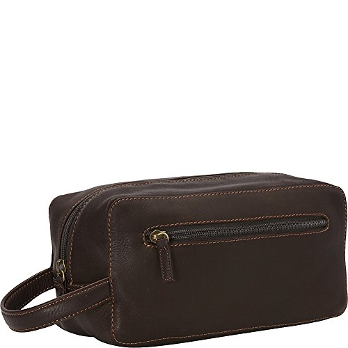 derek-alexander-single-top-zip-travel-case-brown-one-size