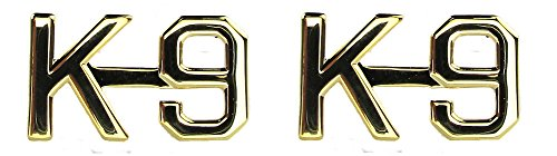 K-9 Unit Collar Pin - 1 PAIR (Gold (No Shine)) (Alpha K9)