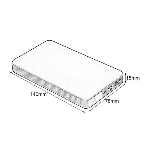 HibiscusElla 12V 20000mAh Mini Multifonctionnel Portable Voiture Saut D/émarreur Power Booster Chargeur de Batterie Chargeur De D/émarrage durgence