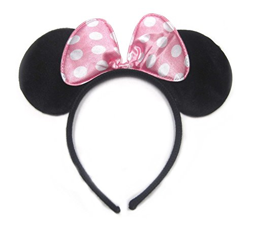 Dreamland Tree Minnie Mouse Light Polka Dots Ear Headband, Pink ()
