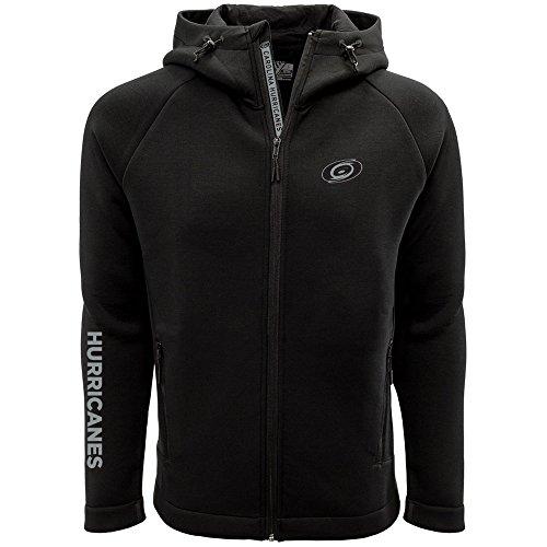 Levelwear LEY9R NHL Carolina Hurricanes Adult Men Titan Insignia Bold Full Zip Hooded Jacket, X-Large, Black