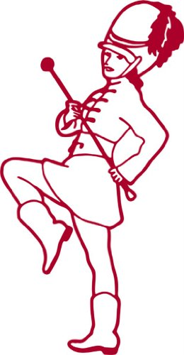 Majorette - Girls Bed Room - Picture Art - Peel & Stick Vinyl Wall Decal Sticker Size : 12 Inches X 24 Inches - 22 Colors Available