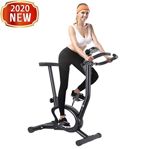 Indoor Cycling Bike Stationary- Ultra-quiet Fitness Bicycle with Comfortable Seat Cushion, Tablet Holder and LCD Monitor - Women/Men Exercise Bike for Home Gym Cardio Workout, Endurance Training