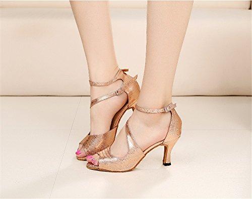 Pour Latine Hauts Femmes Souples chaussures De Rose Talons Gold chaussures À Danse Semelles Chaussures Tmkoo ItwZqUw