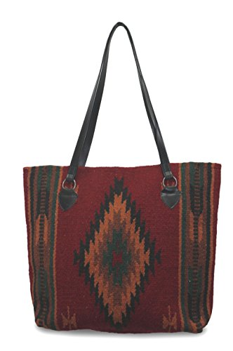 Southwest Boutique Wool Tote Purse Bag Native American Western Style Handwoven (Catalina) - Catalina Panel