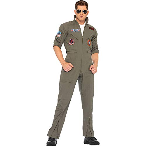 Leg Avenue Complete Flight Suit Costume with Accessories - Size 40-42 medium