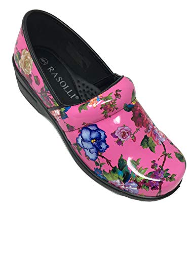 Power Closed Flower Pink Professional Clogs 3106 Back Women's Rasolli 1w4P4pq