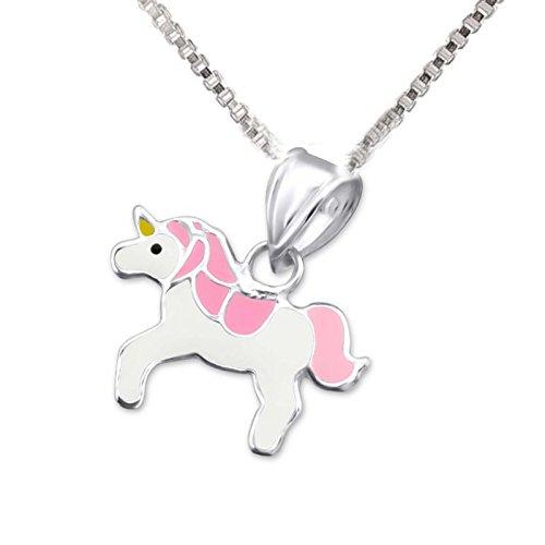 SL de Silver Set Cadena Remolque Infantil Pinkes Unicornio 925plata en caja de regalo