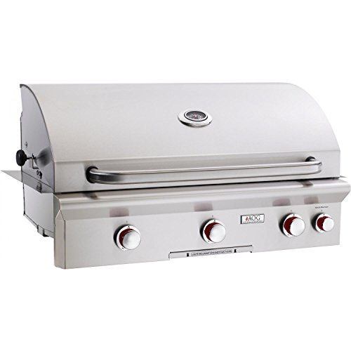 "UPC 619655032108, American Outdoor Grill 36NBT 36"" T Series Natural Gas Built-In Grill with 50000 BTUs Rapid Light Piezo Ignition System Warming Rack Analog Thermometer and Heavy Duty 300 Series Stainless Steel"