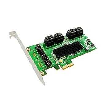 IOCREST SATA III (6 Gbps) 8-puerto PCI-Express tarjeta ...
