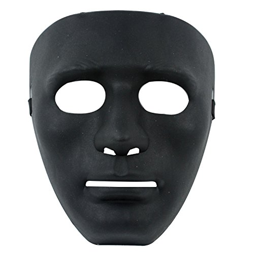 [HOSdog Blank Male Halloween Costume Drama Mask,Black] (Drama Mask Costume)