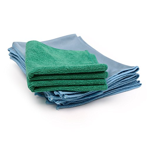 Microfiber glass cleaning cloths 8 pack lint free for Glass cleaning towels