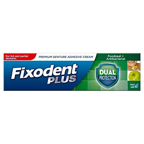 6 x Fixodent Dual Protection Denture Adhesive Cream 40g by Fixodent