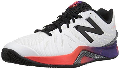 Nuovo Equilibrio Mens Mc1296v2 Scarpa Da Tennis Bianco / Nero Prugna