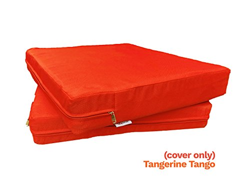 Cheap QQbed 6 Pack Outdoor Patio Chair Washable Cushion Pillow Seat Covers 24″ X 22″ – Replacement Covers Only, Tangerine Tango Color