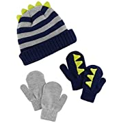 Simple Joys by Carter's Boys' Hat and Mitten Set, Stripe, 12-24 Months