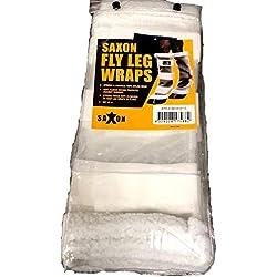 Saxon. Fly Leg Wraps, White, One Size