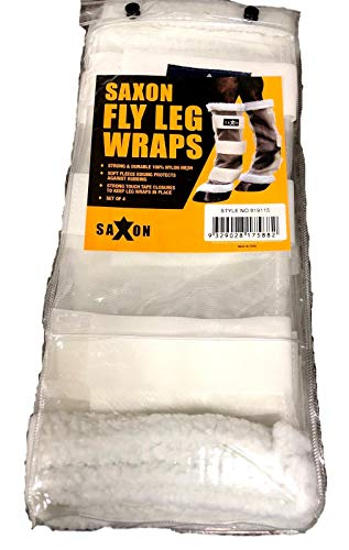 (Saxon. Fly Leg Wraps, White, One)